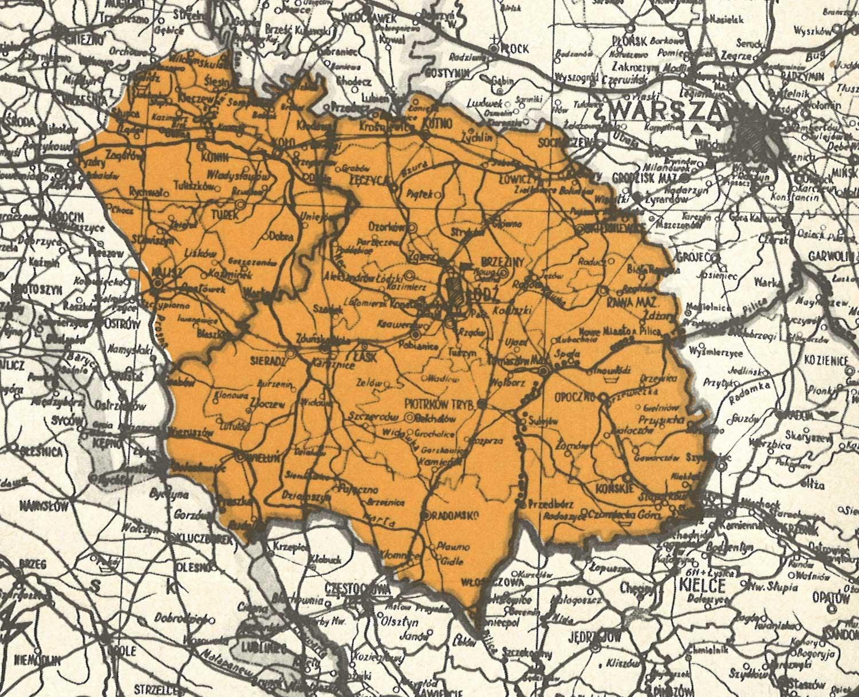 Karte Polen, 1939
